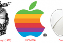 Evolution des logos de firmes High-Tech
