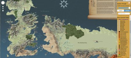 Une carte interactive de Game of Thrones sans spoiler