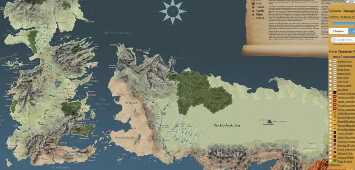 Une carte interactive de Game of Thrones sans spoiler ...